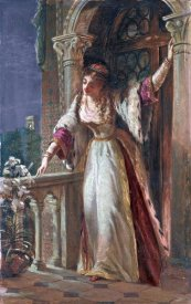 Sir Francis Dicksee - It Is I, Be Not Afraid - Juliet On Her Balcony