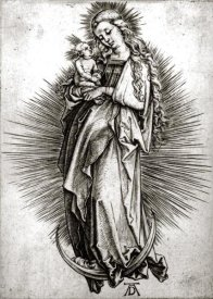Albrecht Durer - The Virgin and Child On a Crescent