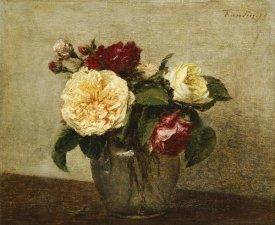 Henri Fantin-Latour - Red and Yellow Roses