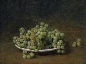 Henri Fantin-Latour - White Grapes On a Plate