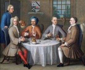 Benjamin Ferrers - Sir Thomas Sebright, Sir John Bland and Two Friends