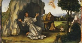 Francesco Raibolini Francia - Saint Francis Receiving The Stigmata