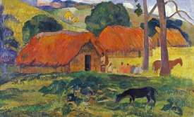 Paul Gauguin - The Three Huts, Tahiti