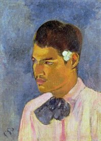 Paul Gauguin - Young Man With a Flower