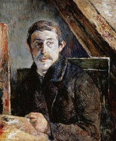 Paul Gauguin - Gauguin Behind An Easel