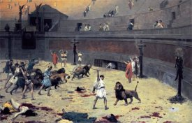Jean Leon Gerome - The Reentry of the Lions Into The Arena