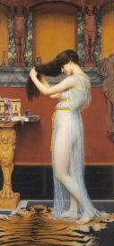 John William Godward - The Toilet