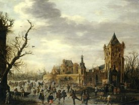 Jan Van Goyen - A View of Kasteel Batestein Vianen, In Winter