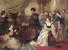 Robert Alexander Hillingford - The Three Caskets: The Merchant of Venice, (Act III, Scene II)