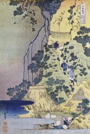 Hokusai - Travellers Climbing Up a Steep Hill