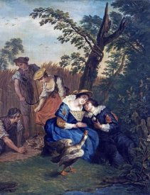 Jan Josef Horemans - A Courting Couple Beneath a Tree