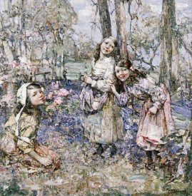 Edward Atkinson Hornel - Gathering Bluebells