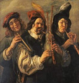 Jacob Jordaens - Three Musicians