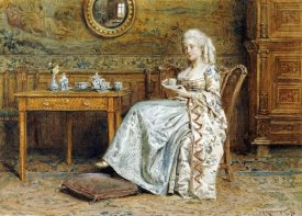 George Goodwin Kilburne - Afternoon Tea