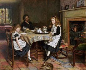 George Goodwin Kilburne - There Is No Fireside.....