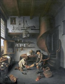 Isaack Koedijck - A Barber Surgeon Tending a Peasant's Foot