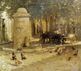 Henry Herbert La Thangue - Fountain In a Provencal Village