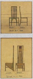 Charles Rennie Mackintosh - Design For Chairs, 1903
