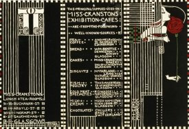 Margaret Macdonald Mackintosh - The White Cockade, Illustration For a Menu, 1911