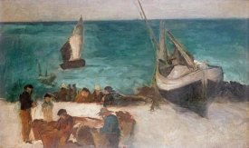 Edouard Manet - Seascape at Berck; Fishing Boats and Fishermen