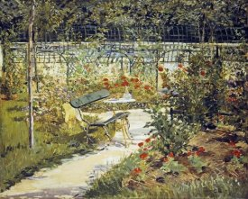 Edouard Manet - The Bench, Garden at Versailles