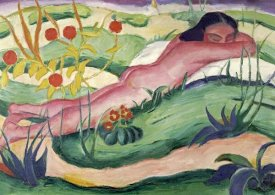 Franz Marc - Nude Lying In The Flowers