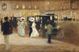Amedee Julien Marcel-Clement - Getting Into The Car
