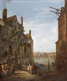 William Marlow - A View of The Thames at Southwark Looking Towards The City
