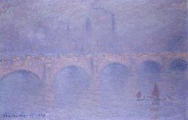 Claude Monet - Waterloo Bridge, Misty Sunshine