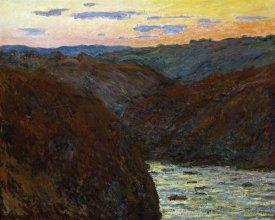 Claude Monet - La Creuse, Sunset