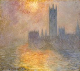 Claude Monet - Parliament at Sunset