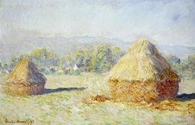 Claude Monet - Haystacks, Morning Effect