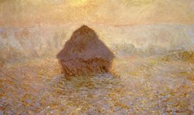 Claude Monet - Haystacks, Sun on the Mist