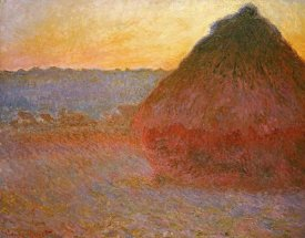 Claude Monet - Haystacks, Pink and Blue Impressions