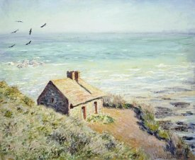 Claude Monet - The Customs Hut, Morning