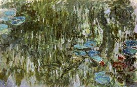Claude Monet - Water Lilies, Reflected Willow