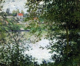 Claude Monet - The Island of La Grande Jatte, Through the Trees