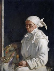 Sir William Orpen - The Painter; Self-Portrait With Glasses