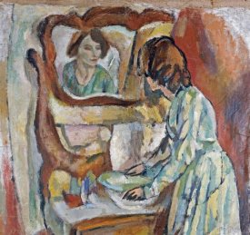 Jules Pascin - Woman at Her Toilet