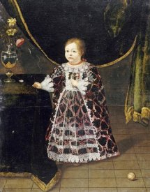 Sante Peranda - Portrait of a Girl By a Table