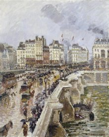 Camille Pissarro - The Pont Neuf On a Rainy Afternoon