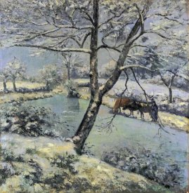 Camille Pissarro - Winter at Montfoucault with Snow, 1875