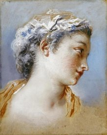 Jacques Andre Portail - Portrait Study of a Young Girl