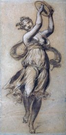 Pierre-Paul Prudhon - A Woman Dancing, Playing a Tambour