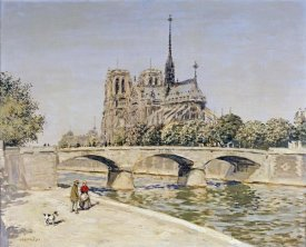 Jean-Francois Raffaelli - Notre Dame and the Seine