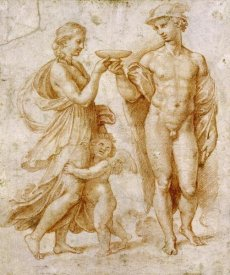 Raphael - Mercury Offering The Cup of Immortality To Psyche