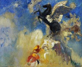 Odilon Redon - The Black Pegasus