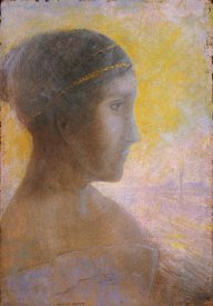 Odilon Redon - Head of a Young Woman In Profile