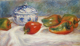 Pierre-Auguste Renoir - Still Life With a Blue Sugar Bowl and Peppers