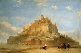 David Roberts - Mont St Michel From The Sands